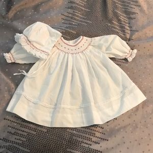 Petit Ami: Christening Dress with Bonnet